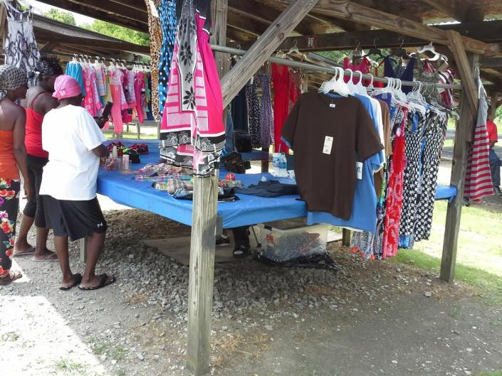 Some vendors display brand new clothing at a price you can not beat. You will find a large selection of children and women's clothing.